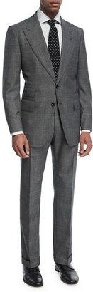 TOM FORD Shelton Base Mouline Prince of Wales Plaid Two-Piece Suit $5,450 thestylecure.com