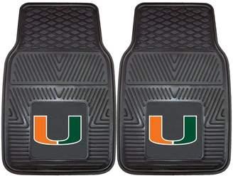 Fanmats FANMATS 2-pk. Miami Hurricanes Vinyl Car Floor Mats