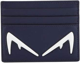 Fendi Diabolic leather card holder