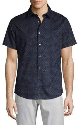 Slate & Stone Short-Sleeve Star Button-Down Shirt