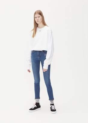 Off-White Off Crop Crewneck Sweatshirt