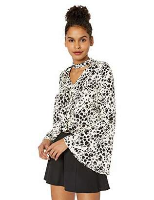 Jack by BB Dakota Junior's in Your Element Snow Leopard Printed Crepon top