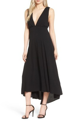 Women's Lush Plunging Linen & Cotton Maxi Dress $59 thestylecure.com