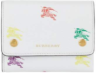 Burberry Leather Small Equestrian Knight Wallet