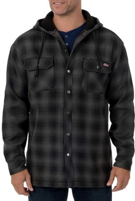 Dickies Genuine Mens Twill Polar Fleece Lined Shirt Jacket