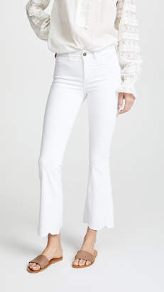 MiH Jeans Bodycon Marrakesh Scalloped Flare Jeans
