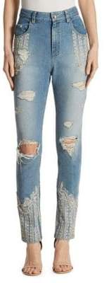 Jonathan Simkhai Diamonte Embellished Stovepipe Jeans