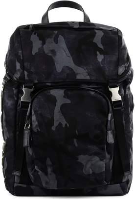 Prada Camouflage Logo Patch Backpack