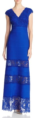 Tadashi Shoji Lace-Inset Pintuck Gown $468 thestylecure.com