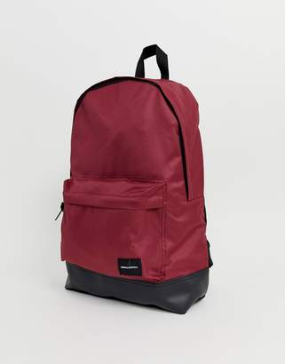 Asos DESIGN Backpack In Burgundy