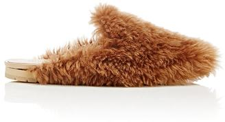 Helmut Lang Women's Shearling Mules $520 thestylecure.com