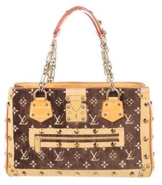 Louis Vuitton Crocodile-Trimmed Trompe L'oeil Le Fabuleux Bag Yellow Crocodile-Trimmed Trompe L'oeil Le Fabuleux Bag