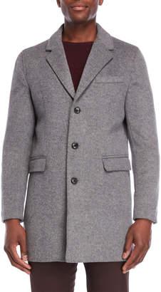 Michael Kors Light Grey Slim Fit Overcoat