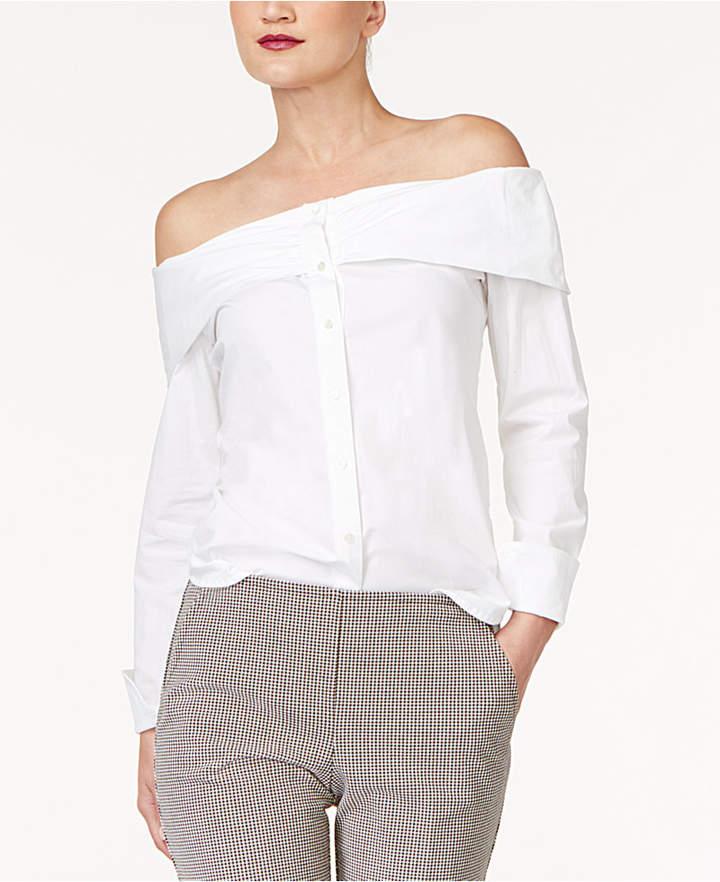Trina Turk Off-The-Shoulder Shirt