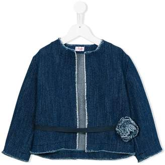 Il Gufo belted denim jacket