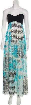 Diane von Furstenberg Asti Silk Strapless Maxi Dress