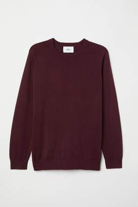 H&M Fine-knit Silk-blend Sweater - Red