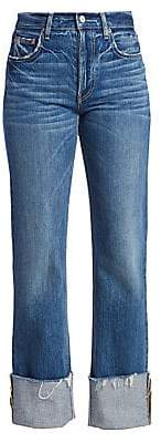 Trave Women's Berit High-Rise Raw Hem Cuffed Jeans