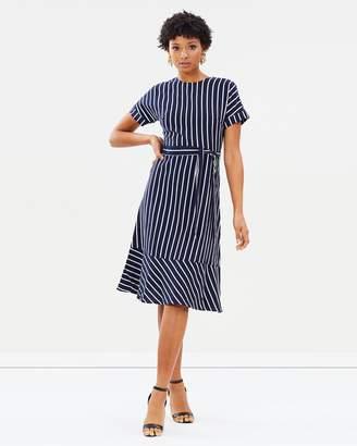 Warehouse Stripe Linen Dress