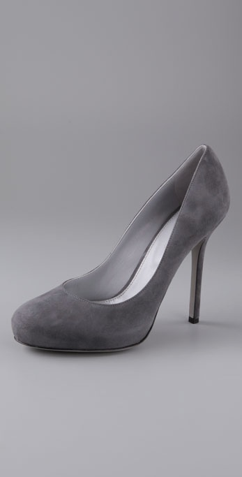 Sergio Rossi Tracy Suede Pumps on Hidden Platform