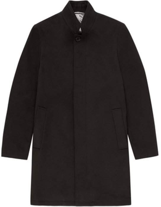 Womens **Burton Black Faux Wool Funnel Neck Coat