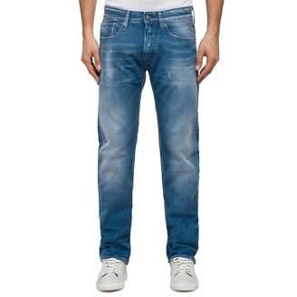 Azure Cotton Slim Fit Cotton Jeans