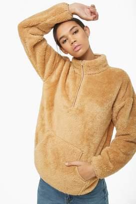 Forever 21 Plush Half-Zip Pullover