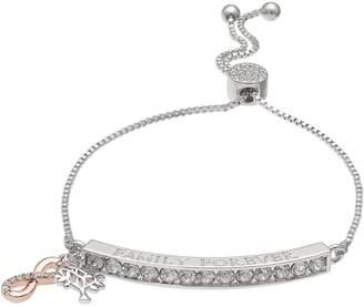 """Brilliance+ Brilliance """"Family Forever"""" Adjustable Bracelet with Swarovski Crystals"""