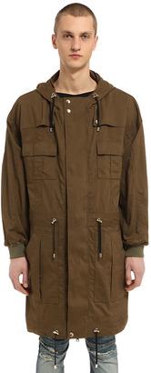 Multi Pocket Hooded Cotton Canvas Parka $2,730 thestylecure.com