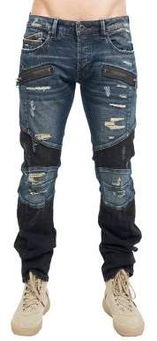 Cult of Individuality Greaser Distressed Moto Jeans