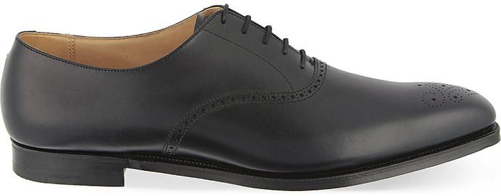 Crockett JonesCrockett & Jones Edgeware punched leather Oxford shoes
