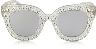896f794ee17 Gucci GG0116S Acetate Cat Eye Women s Sunglasses w Stars feature star  worthy retro