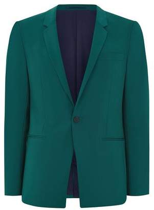 Topman Mens Green Teal Ultra Skinny Suit Jacket