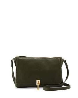 Elizabeth and James Cynnie Leather Micro Crossbody Bag, Olive $295 thestylecure.com