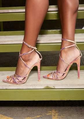 a38fbf75461 Missy Empire Missyempire Harmony Gold Holographic Strappy Heels