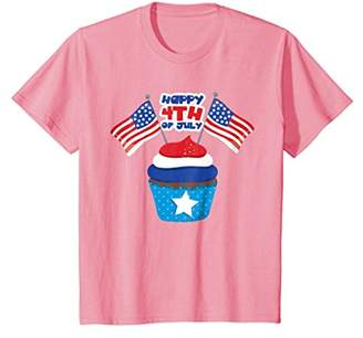 Patriotic Cupcake T-Shirt Stars Stripes Fourth of July