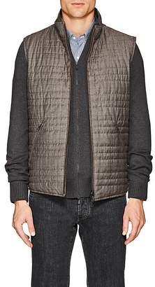 Loro Piana Men's Marlin Wool-Silk Reversible Vest