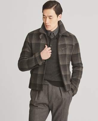Ralph Lauren Plaid Wool Newsboy Jacket