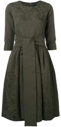 Samantha Sung waist-tied flared midi dress