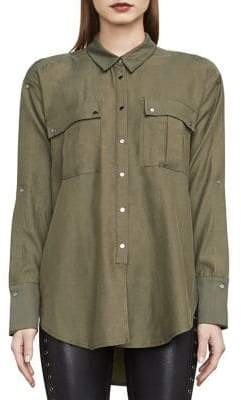 BCBGMAXAZRIA Jaison Cold-Shoulder Shirt