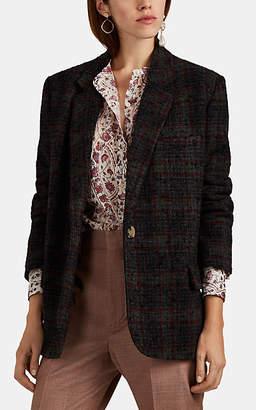 Etoile Isabel Marant Women's Korix Plaid Wool Bouclé Tweed Blazer - Olive