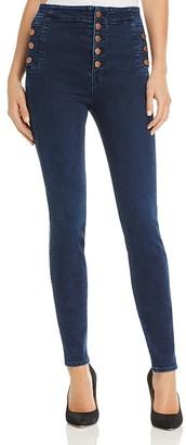 J Brand Natasha Button Sky High Skinny Jeans in Throne $278 thestylecure.com