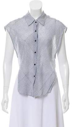 Theyskens' Theory Striped Button-Up Top
