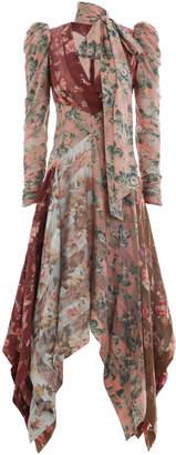 Zimmermann Unbridled Chevron Silk Dress