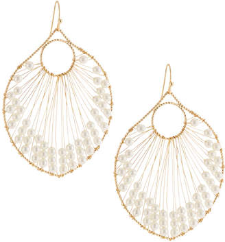 Panacea Pearly Beaded Wire Drop Earrings