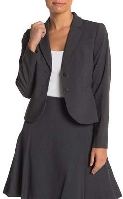 Calvin Klein Long Sleeve Two Button Suit Jacket (Petite)