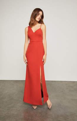 BCBGMAXAZRIA Asymmetrical Bodice Gown
