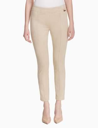 Calvin Klein faux suede logo leggings