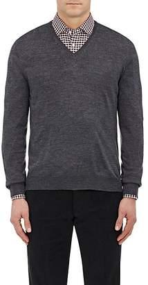 Barneys New York Men's Wool V-Neck Sweater - Charcoal