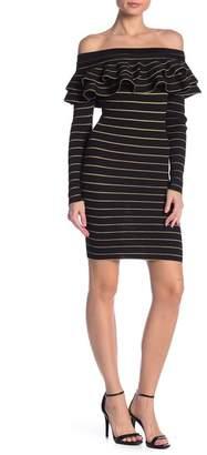 ALLISON NEW YORK Ruffle Knit Dress